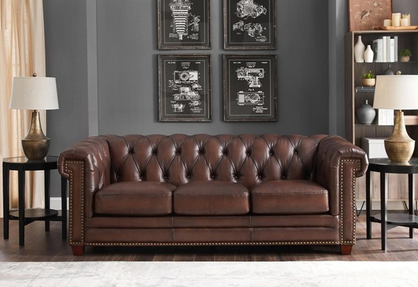 Hydeline Standwood Dark Brown Sofa AMX-9877SO1866H