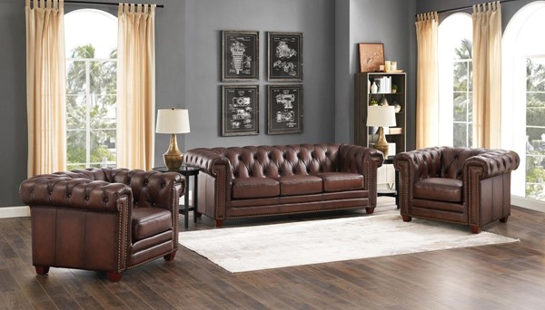 Hydeline Standwood Dark Brown 3pc Living Room Set with 2 Chairs AMX-Stanwood-SCC