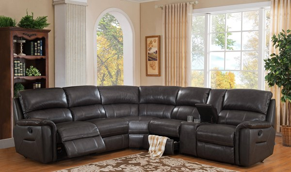 Amax Leather Camino Charcoal Sectional AMX-Camino-SECT