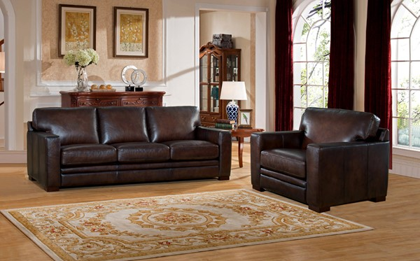 Hydeline Chatsworth Dark Brown Sofa and Chair Set AMX-Chatsworth-SC