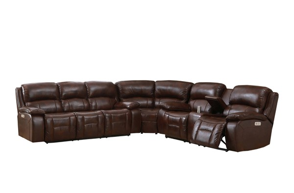 Hydeline Wesminster II Brown Power Reclining Sectional AMX-WestminsterII-SECT