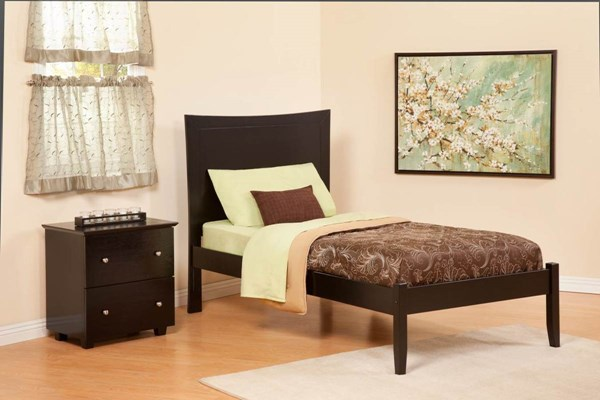 Atlantic Furniture Concord Espresso Full Bed with Open Foot Rail AP8131001