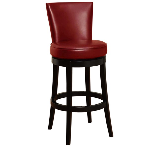 Armen Living Boston Red 26 Inch Counter Stool ARM-LC4044BARE26