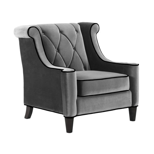 Armen Living Barrister Gray Chair ARM-LC8441GRAY