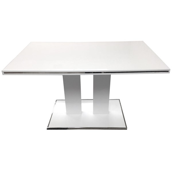 Armen Living Amanda White Dining Table ARM-LCAMDIWHTO