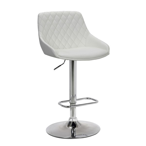Armen Living Anibal White Adjustable Barstool ARM-LCANSWBAWH