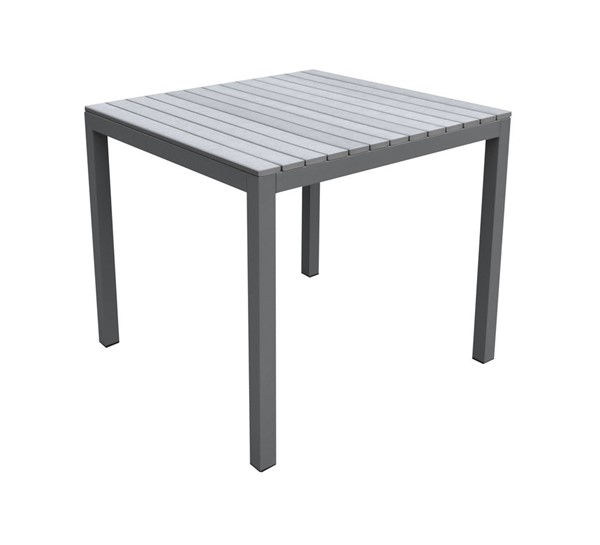 Armen Living Bistro Grey Outdoor Patio Dining Table ARM-LCBIDIGR