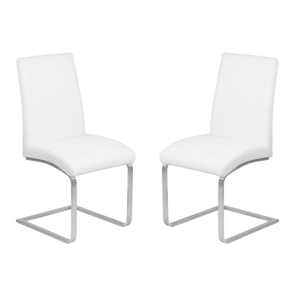 2 Armen Living Blanca White Dining Chairs ARM-LCBLSIWHBS