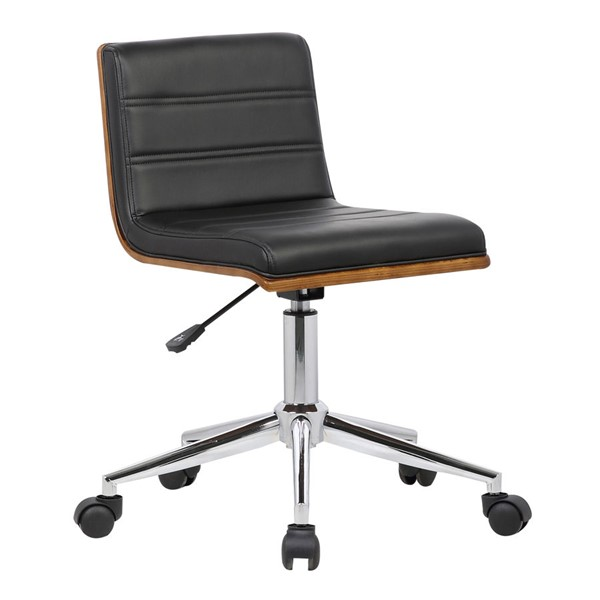 Armen Living Bowie Black Office Chair ARM-LCBOOFCHBLACK