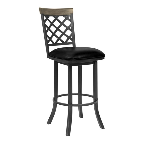 Armen Living Bree Vintage Black 30 Inch Bar Height Stool ARM-LCBRBAMFGWVB30