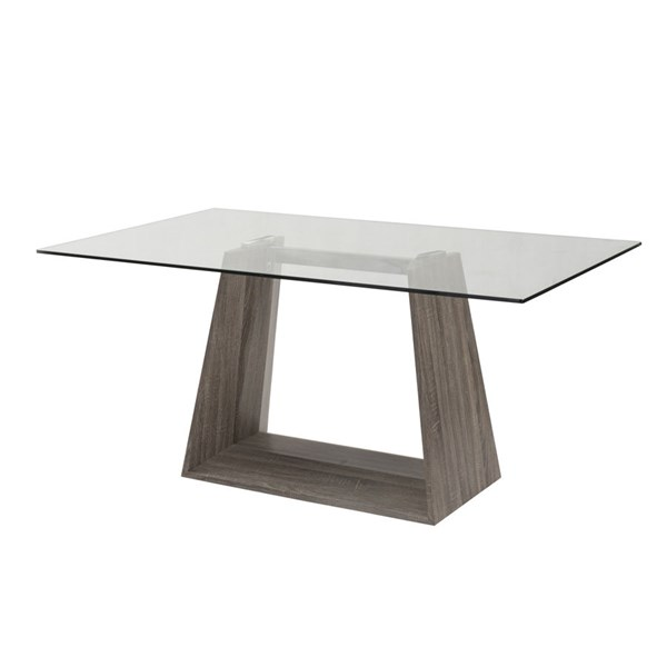Armen Living Bravo Dark Sonoma Dining Table ARM-LCBRDIGLTO