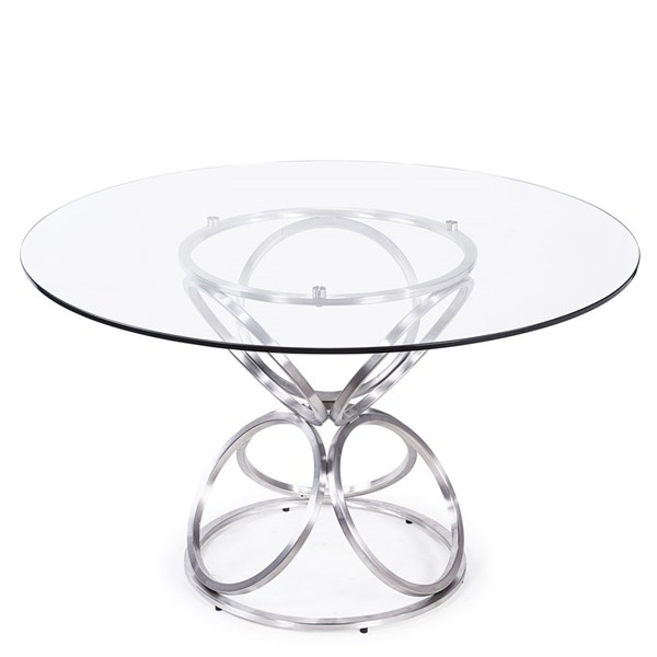 Armen Living Brooke Grey 48 Inch Round Dining Table ARM-LCBRDITO