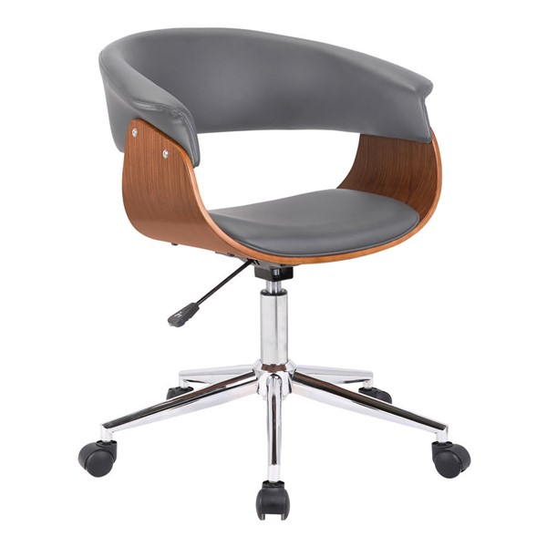 Armen Living Bellevue Grey Office Chair ARM-LCBVOFCHWAGR