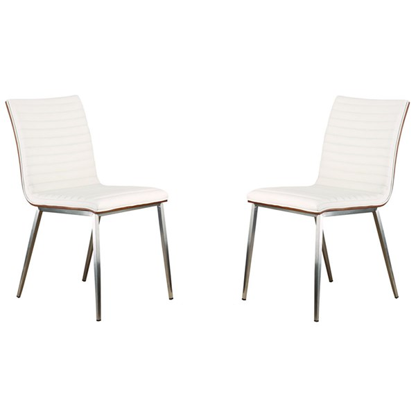 2 Armen Living Cafe White Dining Chairs ARM-LCCACHWHB201