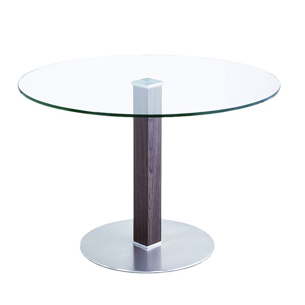 Armen Living Cafe Brown Silver Dining Table ARM-LCCADIB201TO