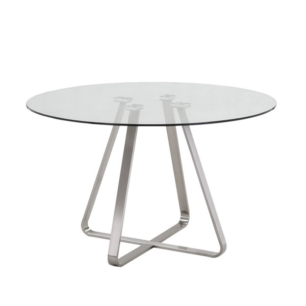 Armen Living Cameo Light Gray Dining Table ARM-LCCADIGLTO