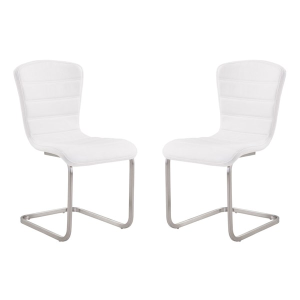 2 Armen Living Cameo White Side Chairs ARM-LCCASIWH