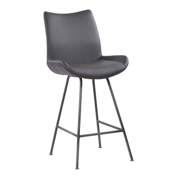 Armen Living Coronado Grey 26 Inch Counter Height Barstool ARM-LCCDBAGR26