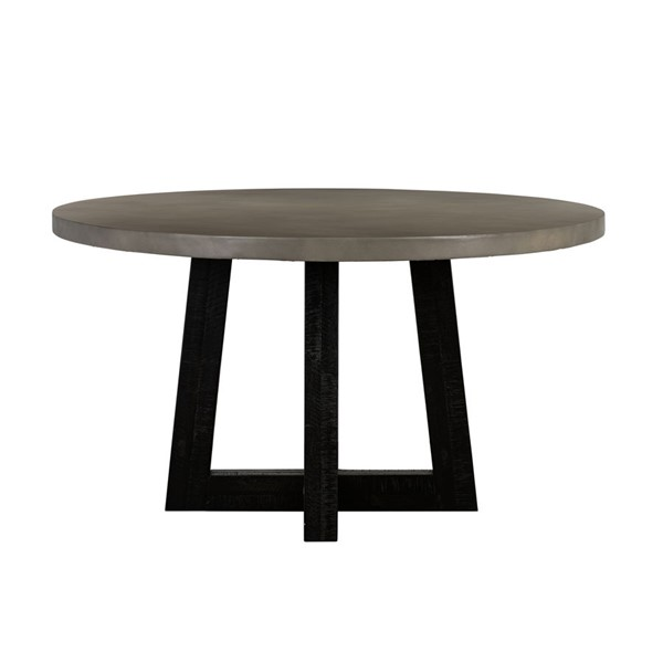 Armen Living Chester Faux Concrete Round Dining Table ARM-LCCHDICC