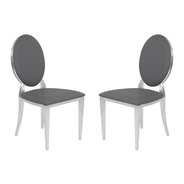 2 Armen Living Cielo Gray Dining Chairs ARM-LCCISIGRBS