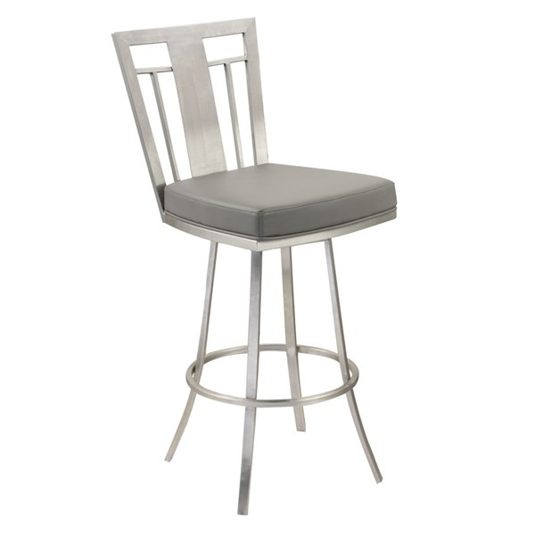 Armen Living Cleo Gray 26 Inch Counter Stool ARM-LCCL26SWBAGRB201