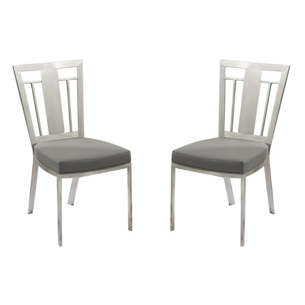 2 Armen Living Cleo Gray Dining Chairs ARM-LCCLCHGRB201