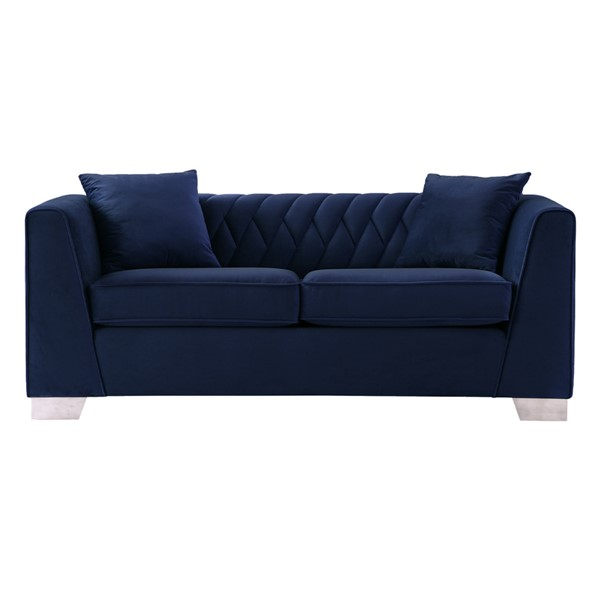 Armen Living Cambridge Blue Loveseat ARM-LCCM2BLUE