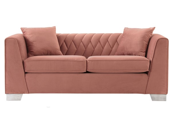Armen Living Cambridge Blush Loveseat ARM-LCCM2BLUSH