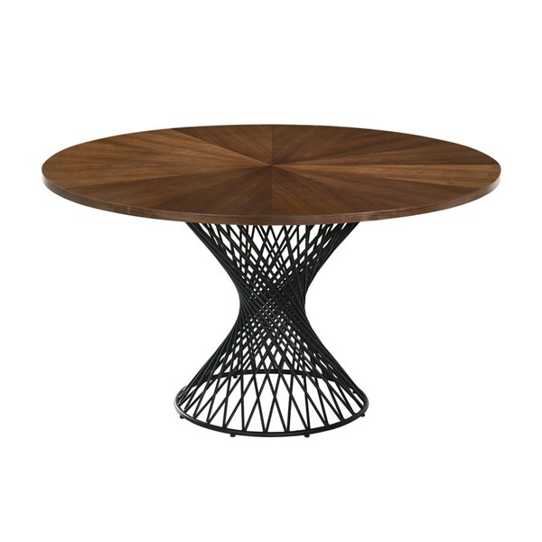 Armen Living Cirque Base 54 Inch Round Pedestal Dining Tables ARM-LCCQDI-DT-VAR