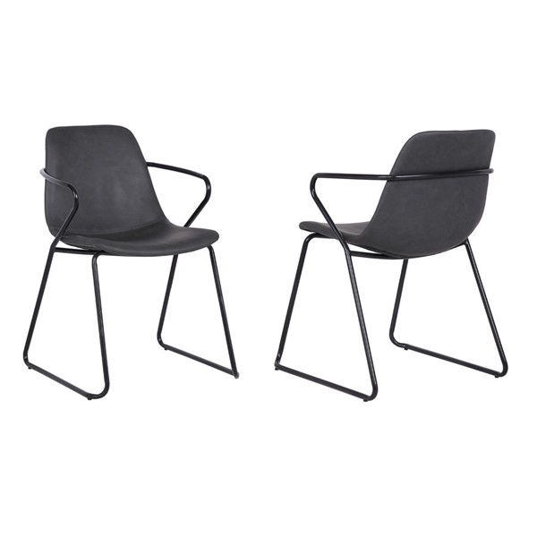 2 Armen Living Colton Dining Chairs ARM-LCCTSIGRBLK-DC-VAR