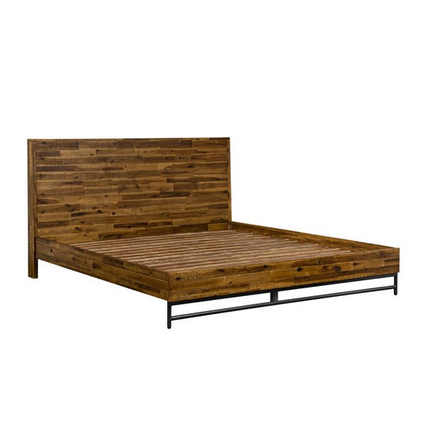 Armen Living Cusco Antique Acacia Wood Platform Beds ARM-LCCUBDAC-BED-VAR
