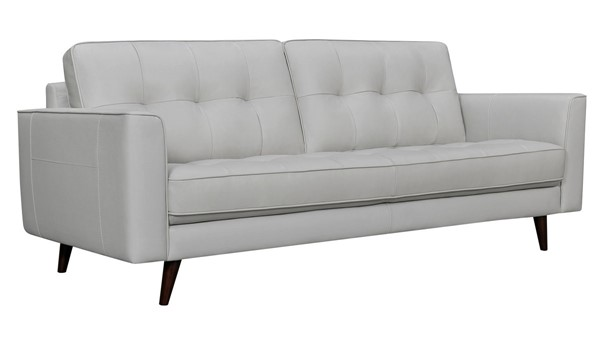 Armen Living Deason Dove Gray Leather Square Arm Sofas ARM-LCDA3-SF-V