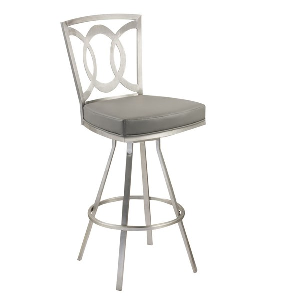 Armen Living Drake Gray 26 Inch Counter Stool ARM-LCDR26SWBAGRB201
