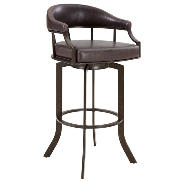 Armen Living Edy Brown Swivel 30 Inch Bar Stool ARM-LCEDBAABBR30