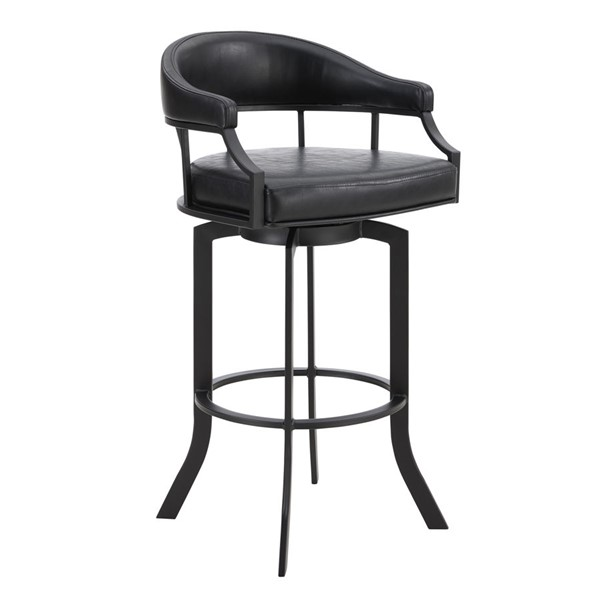 Armen Living Edy Black Powder Coated 26 Inch Bar Stool ARM-LCEDBABLVB26