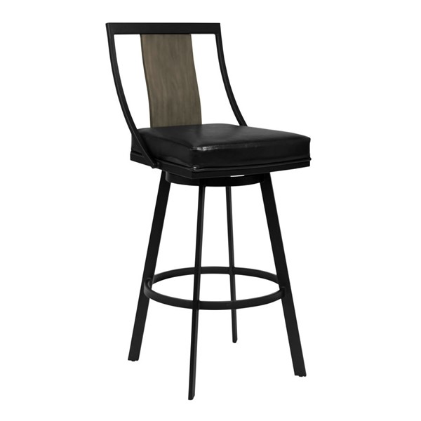 Armen Living Easton Vintage Black 26 Inch Counter Height Stool ARM-LCETBAMBGWVB26