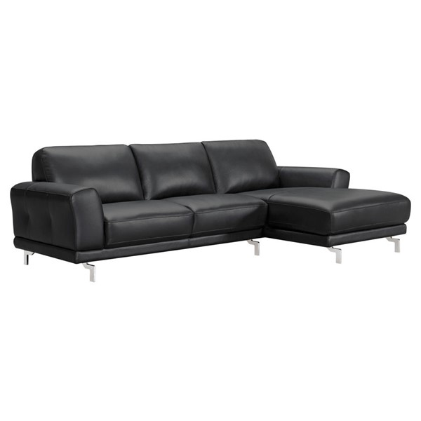 Armen Living Everly Black Sectional ARM-LCEVSEBL