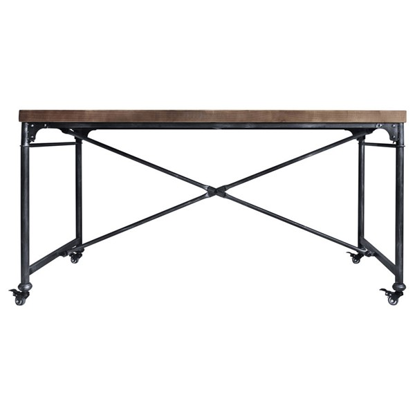 Armen Living Enzo Grey Pine Industrial Dining Table ARM-LCEZDISBPI