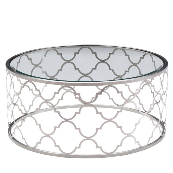 Armen Living Florence Silver Coffee Table ARM-LCFLCOGLBS