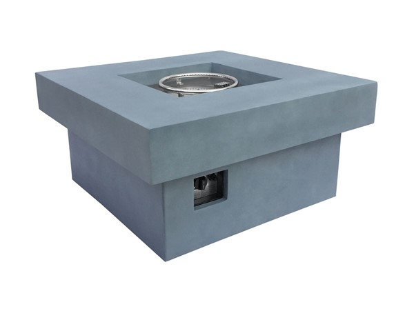 Armen Living Marquee Light Grey Concrete Texture Outdoor Patio Fire Pit ARM-LCFPMQGR