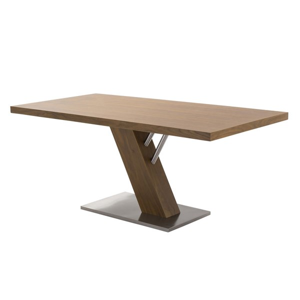 Armen Living Fusion Brown Dining Table ARM-LCFUDIWATO