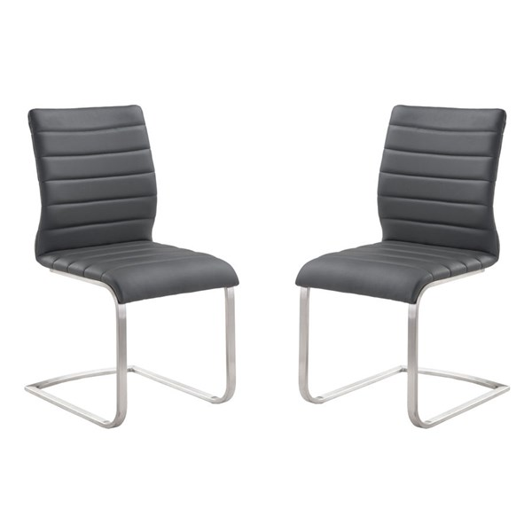2 Armen Living Fusion Gray Side Chairs ARM-LCFUSIGR