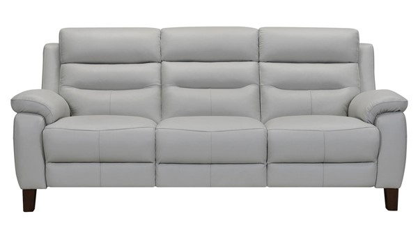 Armen Living Hayward Dove Gray Leather Power Reclining Sofas ARM-LCHA3-SF-V