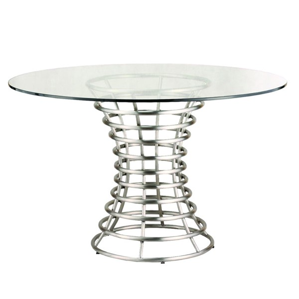 Armen Living Ibiza Silver Dining Table ARM-LCIBDIB201