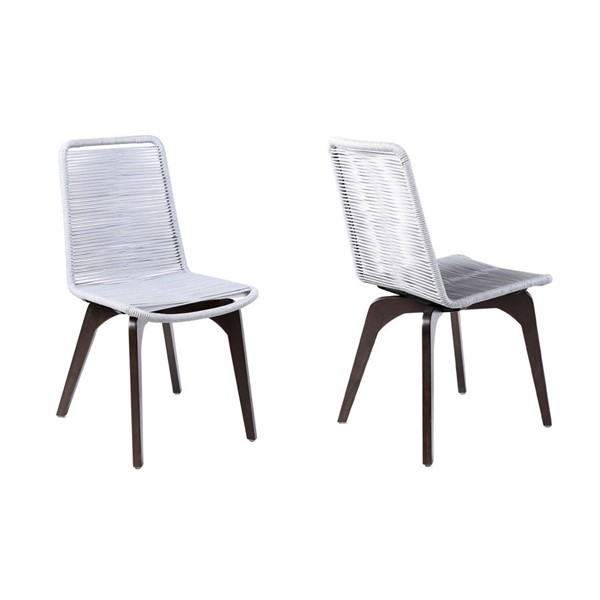 Armen Living Island Rope Outdoor Patio Dining Chairs ARM-LCISSI-OUT-DCH-VAR