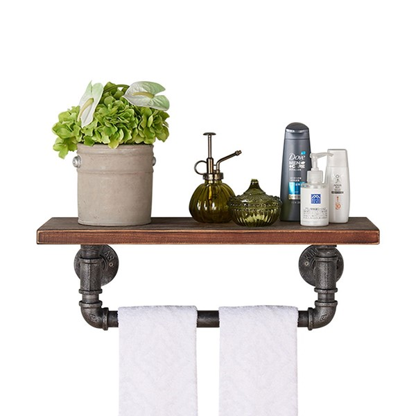 Armen Living Jarrett 24 Inch Floating Wall Shelf ARM-LCJASH24