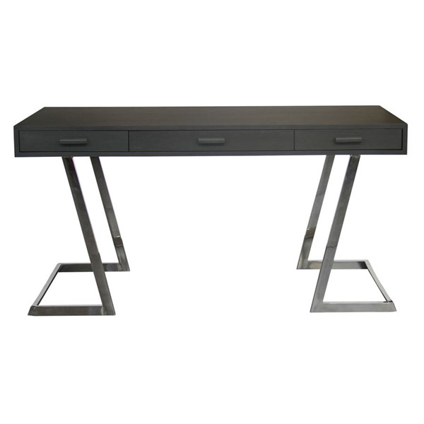 Armen Living Juniper Grey Black Desk ARM-LCJNDEGR-DSK-VAR