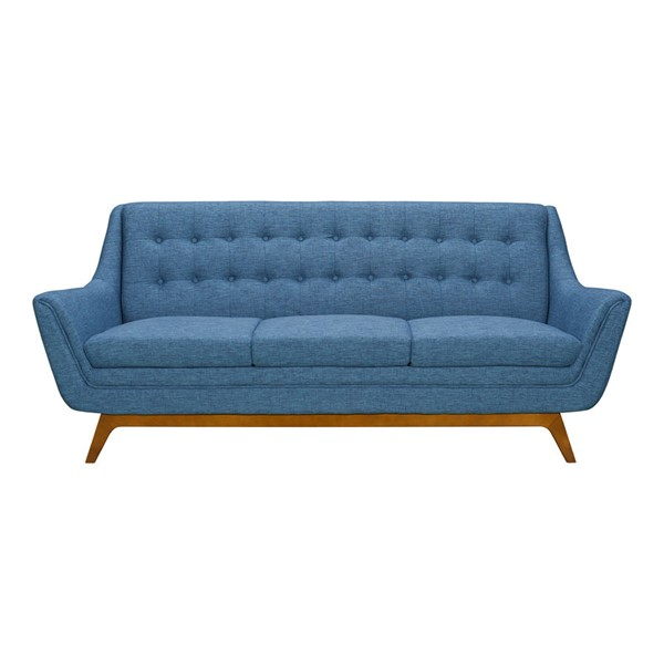 Armen Living Janson Blue Dark Gray Mid Century Sofa ARM-LCJO3BLUE-SF-VAR