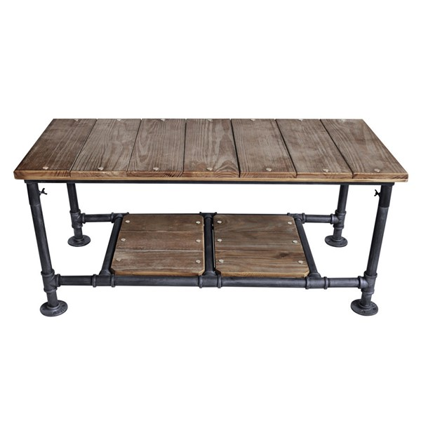 Armen Living Kyle Grey Pine Industrial Coffee Table ARM-LCKYCOSBPI