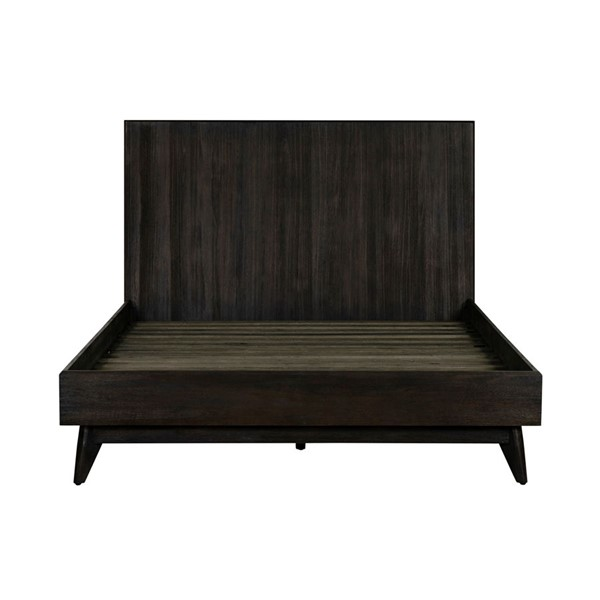 Armen Living Baly Brushed Brown Acacia Platform Queen Bed ARM-LCLFBDQN